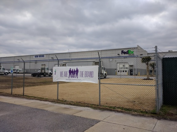 Fed Ex Spartanburg - Front of Building